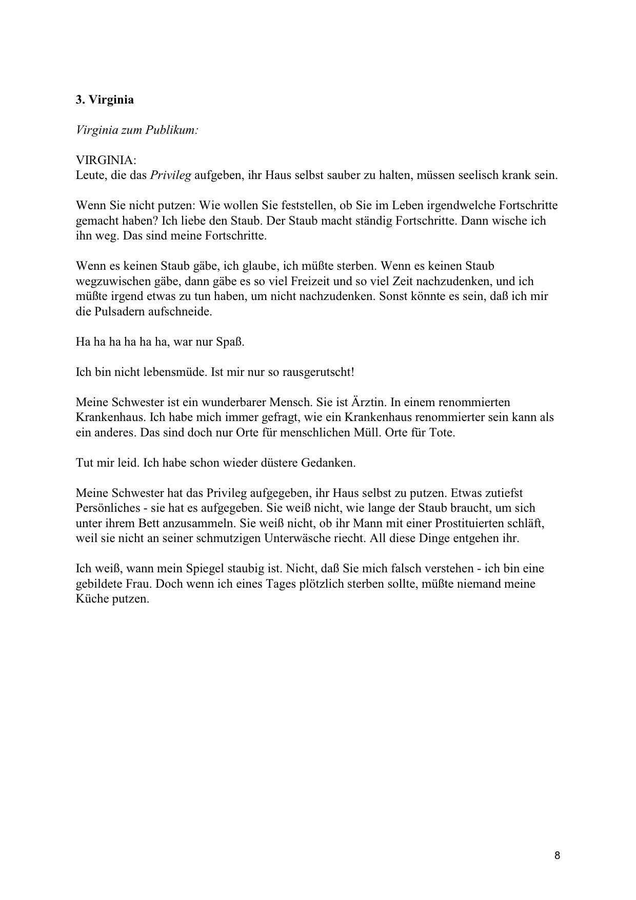 THE CLEAN HOUSE | Translations | Sarah Ruhl